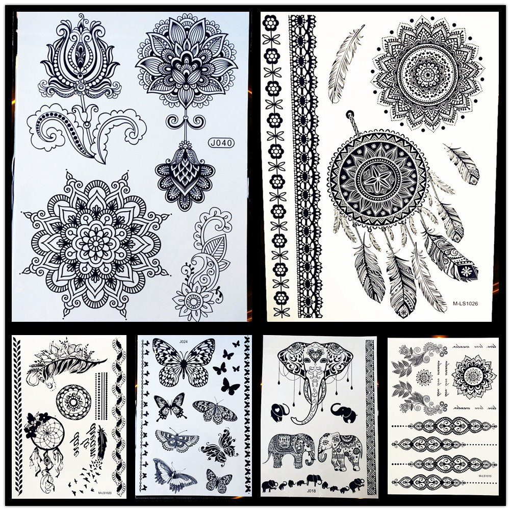 Top 10 Largest Temporary Tattoo Sticker Mandala Brands And