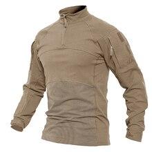 TACVASEN для мужчин быстросохнущая Тактический футболка с длинным рукавом армии Военная Униформа рубашка комплект из рубашки с коротким рукав...