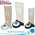 K-SP Acrílico menu titular apto para sistema de chamada sino botão