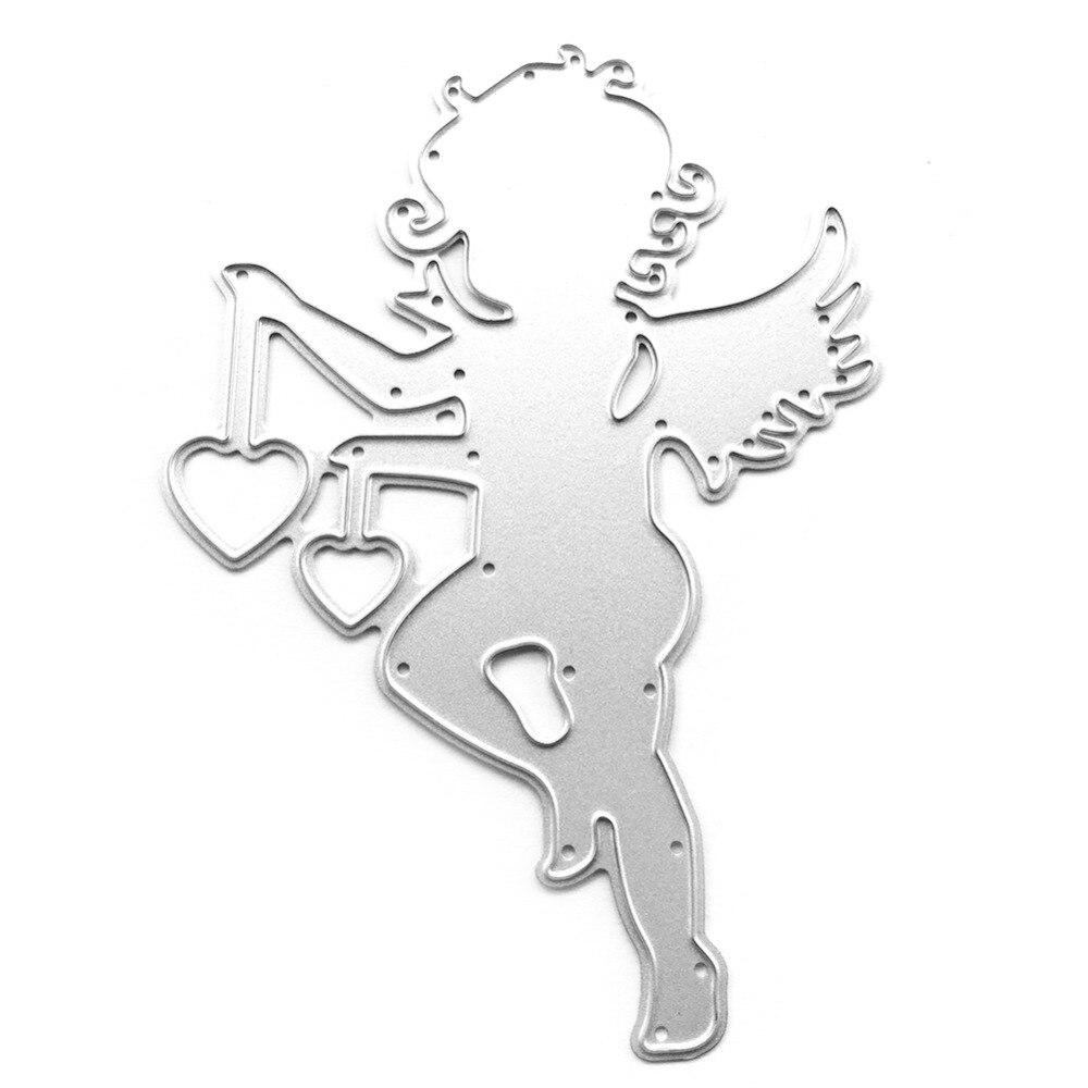 7*10cm scrapbooking cute Love boy angel shape DIY Metal steel cutting die sweet wedding Book photo album art card Dies Cut