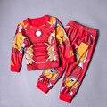2-10 AÑOS Otoño Muchachos de Los Niños Chándal de Spiderman Avengers Iron Man Hulk Batman Capitán América Niño Traje Ropa de Bebé conjunto