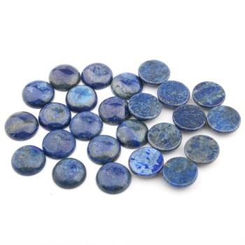 Naturalne Lapis Lazuli kamienie szlachetne Cabochon 10 12 14 16 18mm okrągły bez otworu do wyrobu biżuterii tanie i dobre opinie NoEnName_Null CN (pochodzenie) Other 0inch Cabochon Setting Supplies Ocena biżuteria YSJM2018051401 Cabochon beads Jewelry making