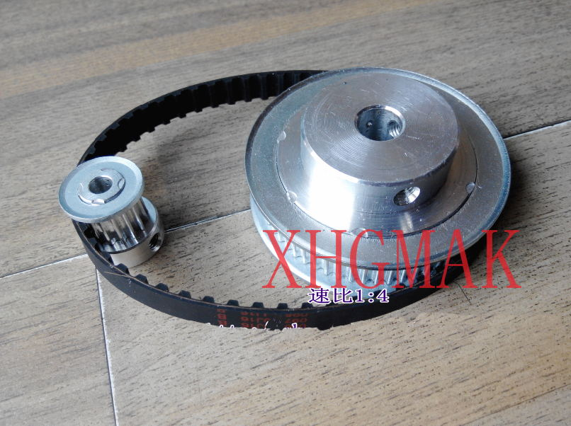 цена на Timing belt pulleys HTD3M (3:1) 60T 20T Teeth Transmission Synchronous belt deceleration suite Engraving Machine Parts