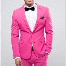 Rosa trajes chaqueta para los hombres casados traje de esmoquin traje  hombre padrinos de boda cena mejor hombre traje (chaqueta . 8995d82e72d