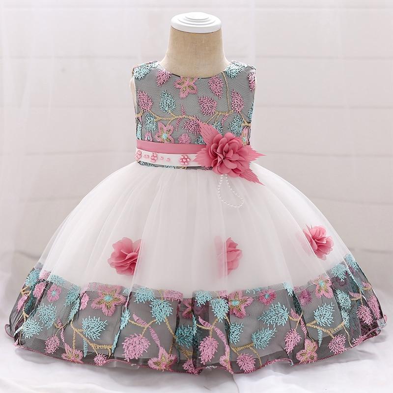 41fd332cb Summer Baby Girl Clothes Newborn Dresses For Girls Princess Baptism Dress  Infant Wedding First Birthday Girl Party Dress 1 Year