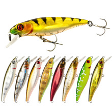 2019 New Bass Floating Minnow With Hook Isca Artificial Hard Bait 8.5cm/9g Swim Wobblers Fishing Tackle Swimbait Topwater