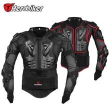 Herobiker transpirable accesorios motocross protector moto chaqueta de la motocicleta armadura equipo de protección de cuerpo negro/rojo