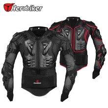 Herobiker atmungsaktiv motorrad rüstung jacke schutz moto zubehör motocross körper schutzausrüstung schwarz/rot