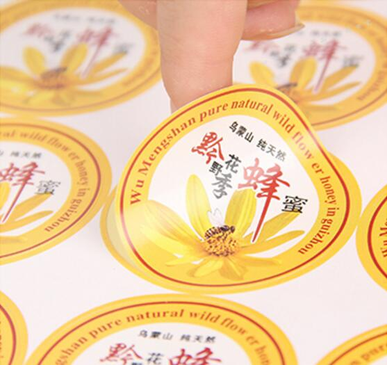 Minimum Order Quantity 500 PCS  Custom Logo Text Paper Stickers Label Print, Glossy/matte Paper Transparent PVC Sticker Printing