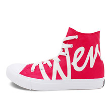 Outdoor Casual High-top Canvas Shoes Women Flat Skateboarding Shoes Sneakers  Fashion Soft Comfortable Red Shoes for Women недорого