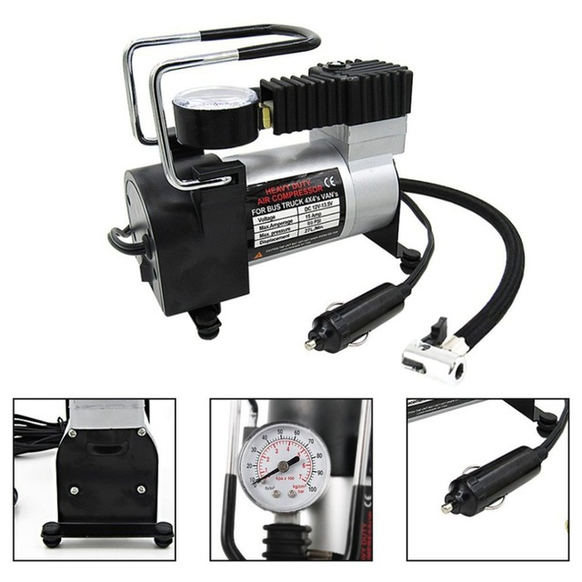 Tirol Portable Super Flow DC 12V 100PSI Metal Air Compressor Tyre Inflator Car