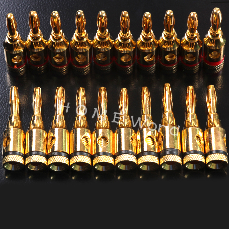 20Pcs 4mm 24k Gold Musical Audio Speaker Cable Wire Banana Plug Connector Plated Musical Speaker Cable Wire Pin cottelli комбинезон со шнуровкой сзади