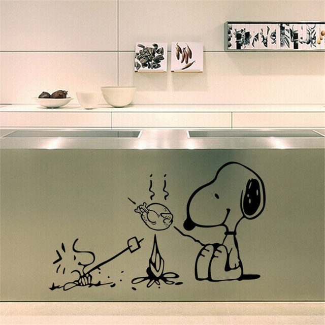 Cute Dog At The Barbecue Removable Vinyl Kitchen Decor Wall - Lego wall decals vinylaliexpresscombuy free shipping lego evolution decal wall