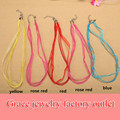 5pcs/lot Colorful Silk Organza Ribbon Necklace Rope Thread Waxed Satin Cord For Diy String Kids Girls Pendants Necklace Supplies
