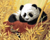 Cute Panda Eat Bamboo Painting By Numbers Painting For Artwork Painting Unframed 40x50CM For Living