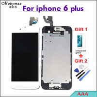 Mobymax AAA Pantalla LCD Full Assembly For iPhone 6 plus Touch Screen Digitizer Display Complete+Home Button+Front Camera+Frame