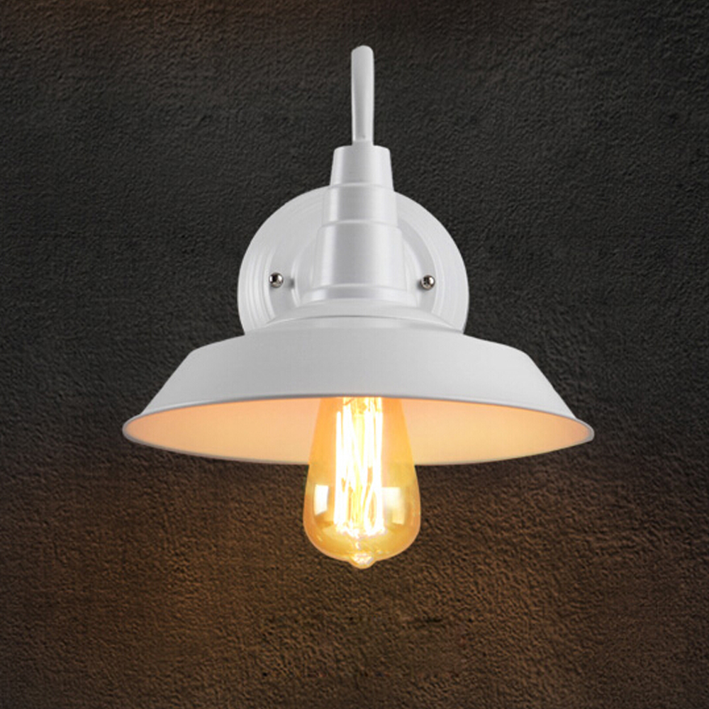 Loft personality Retro Lid Wall Lamp American Village Iron sconce Antique Restaurant Bar Corridor led light Aisle Wall Lamp 2017 loft american village aisle