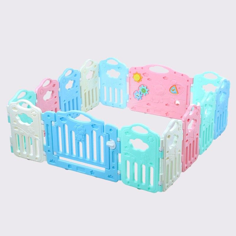 Plastique enfants enfants enfants clôture bébé jeu jouant ramper barrière de sécurité enfant en bas âge bébé carrés parcs avec porte