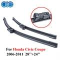 Oge limpiaparabrisas cuchillas para honda civic coupe 2006-2011 par 28 ''+ 24'' del parabrisas de goma de silicona accesorios autos del coche