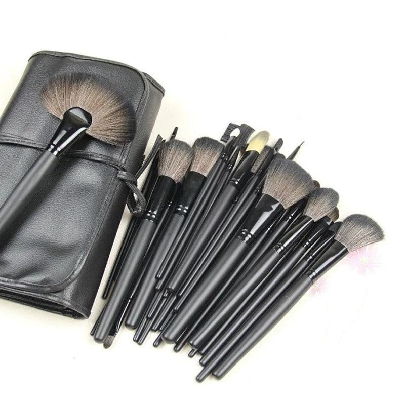 New Professional 24Pcs Make up Brushes Set Cosmetic Makeup Brushes Kit with Case Free Shipping make up for you professional 7 in 1 cosmetic makeup brushes set w case black