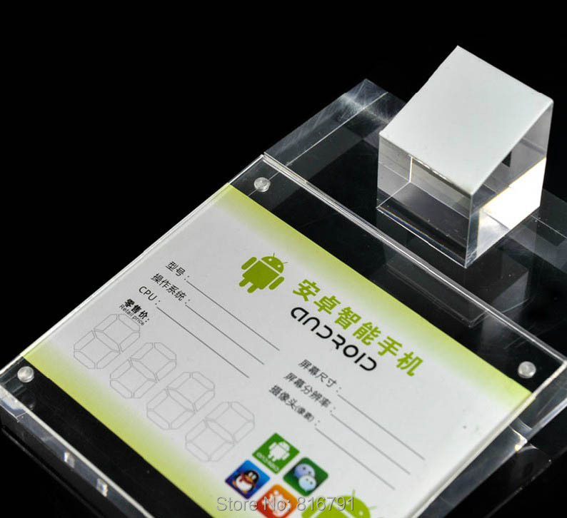 купить Free Shipping Solid Acrylic Cell Phone Display Stand for Mobile Retail Holder Support онлайн