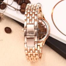 2016 Fashion Rose Gold Watch Women'S Wrist Watch Alloy Strap Analog Display Ladies Watch Casual Fashion Quartz Watch Waterproof