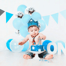 30 Pcs/lot Blue Pink Transparent Ballons confetti Balloons Latex Helium Float Birthday Party Baby Shower Wedding Decor Balls