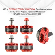 4Pcs D2306 2306 2700KV 2-4S CW/CCW Brushless Motor for QAV250 Wizard X220 280 RC Drone Airplane Helicopter Multicopter