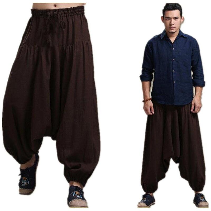 Hommes de Croix-pantalon entrejambe pantalon, large jambe pantalon danse Harem pantalon pantskirt défaites Harem pantalon, 13 COULEURS plus la taille M-5XL