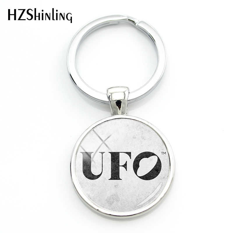 2018 Fashion UFO Logo Study Key Chain Women Silver Alien Logo By Powerchord0 D3hym1p Glass Cabochon Keychain
