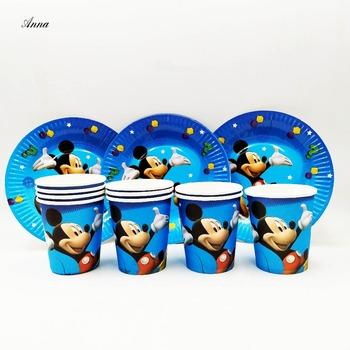 20 sztuk zestaw płyta puchar Disney Mickey Mouse dekoracje urodzinowe dla dzieci zaopatrzenie firm Mickey Mouse zaopatrzenie firm Party dobrodziejstw tanie i dobre opinie Jednorazowe Kubki Ślub Birthday party Chiński nowy rok Dzień dziecka New Year Cartoon zwierząt Samochód kreskówki