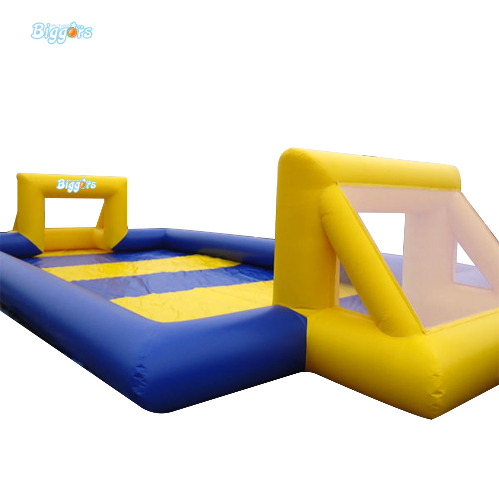 Portable Inflatable Kids Soccer Court Football Field Inflatable Football Pitch For Outdoor Football Event Sport Toy free shipping juegos inflables 16x8 meters inflatable soccer field football court with pvc material for kids