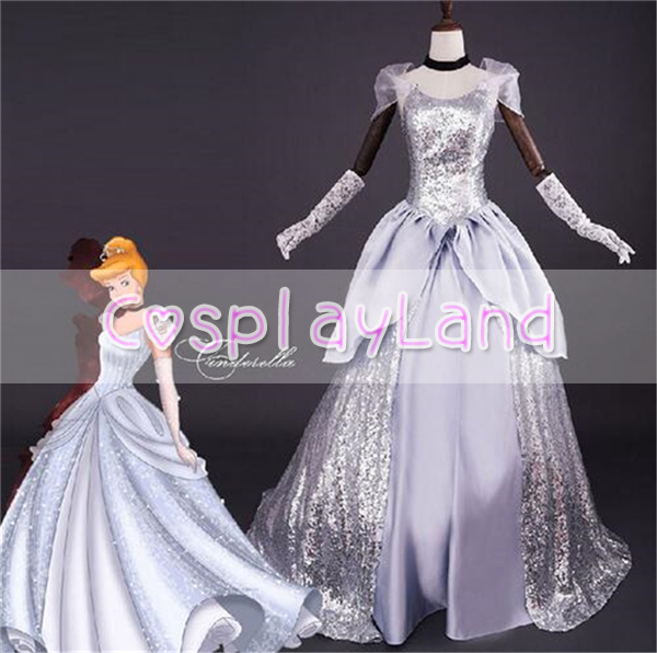 Princess Cinderella Dress Adult Halloween Costumes for Women Cosplay ...