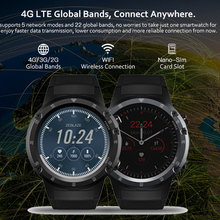 4G Wifi GPS Smart Watch phone watch SIM 1GB+16GB 5.0MP Camera SmartWatches Android 7.1 MTK6739 QuadCore Zeblaze THOR 4 pro