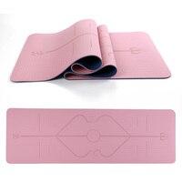 183*61*0.6cm Free shipping eco friendly anti slip TPE Yoga Mat