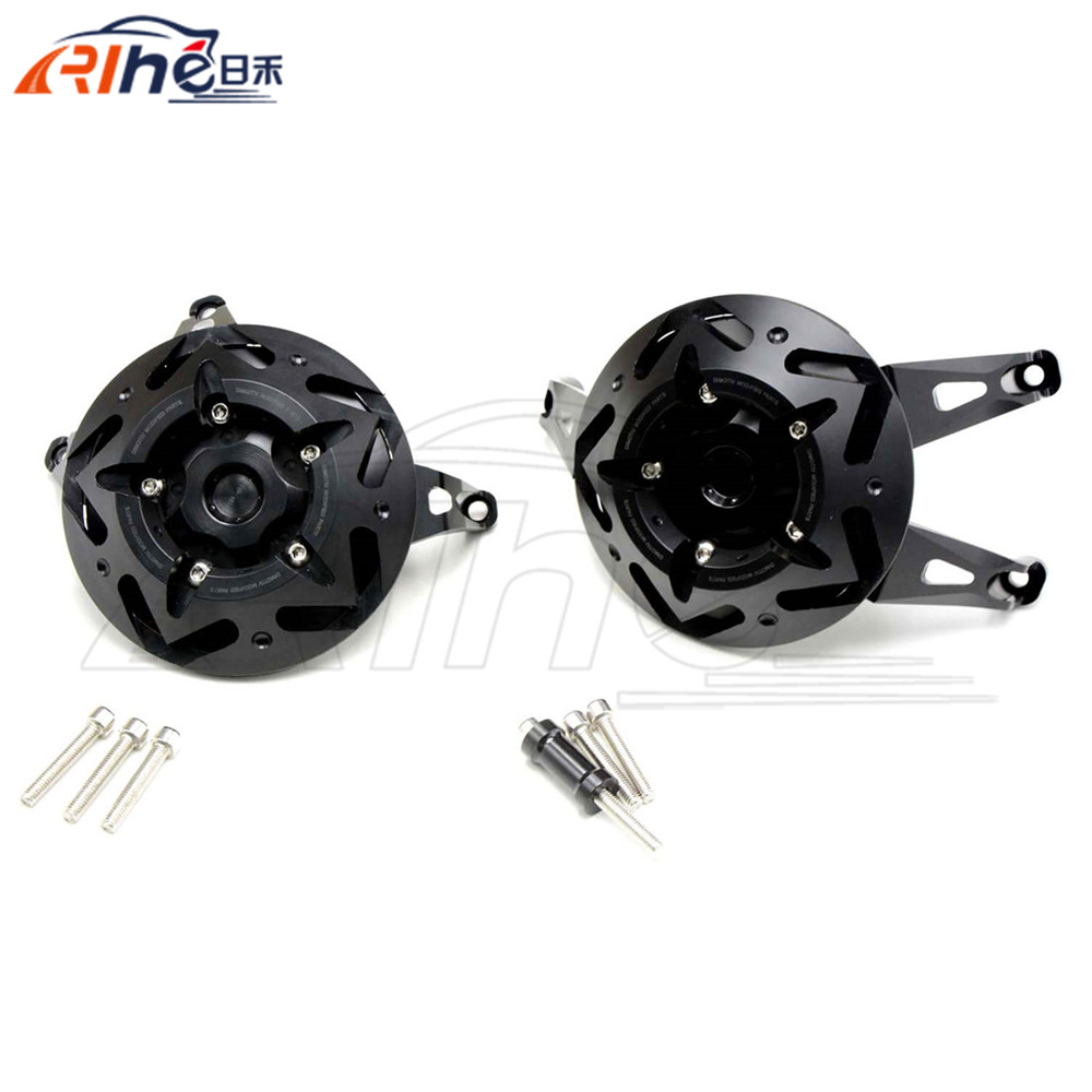 New Motorcycle Parts Engine Cover Black Engine Protective Cover Left&Right Side For kawasaki z1000 2010 2011 2012 2013 2014 2015 for yamaha r1 2009 2010 2011 2012 2013 2014 motorcycle accessories motorbike parts engine cover engine protective side protector