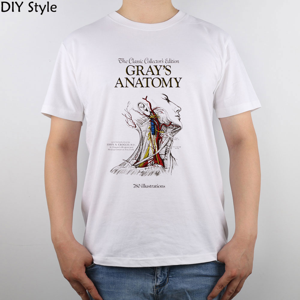 Shirt design book - Black Friday Grey S Anatomy Images Science Book A Day A Color Coded T Shirt Top Pure Cotton Men T Shirt New Design High Quality
