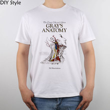 Grey's Anatomy images Science Book a Day A color-coded T-shirt Top Pure Cotton Men T shirt New Design High Quality