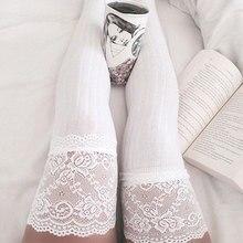 Женщины Мода Твердые Мягкий Теплый Кружева Hollow Колено Протектор Повседневная Чулки Ноги Теплые Белый/Черный/Серый