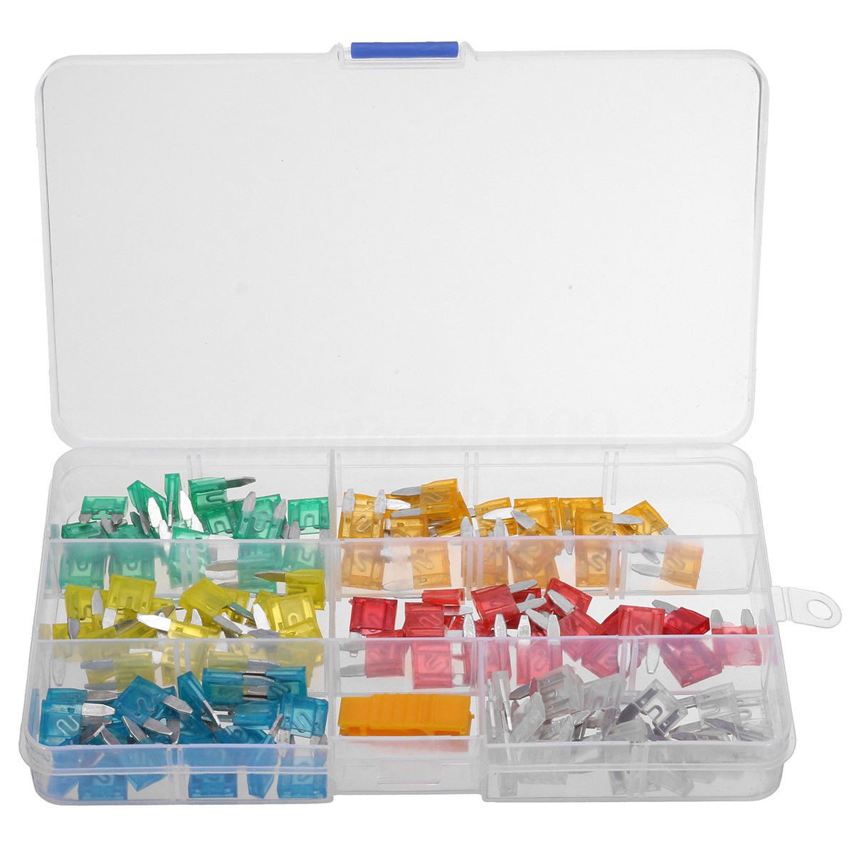 120 PC Mini Assorted Car Fuse Color Coded Fuse Replacement Kit Auto SUV /& Truck