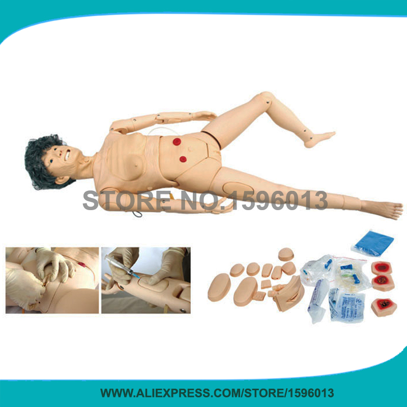 Full-functional Elderly Female Nursing Manikin, Patient Nursing Training Dummy bix h2400 advanced full function nursing training manikin with blood pressure measure w194