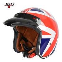 Motorcycle helmet jet Vintage helmet Open face retro 3/4 half helmet casco moto capacete motoqueiro DOT