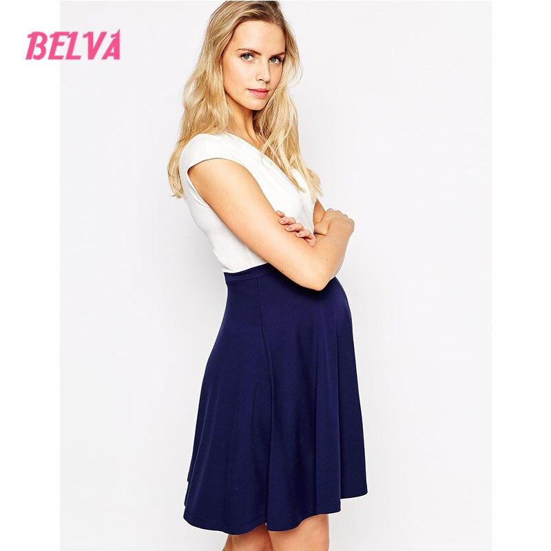 ФОТО Belva 2017 Sale Maternity Dress Pregnant Clothes V- neck Ultra Soft Bamboo Fiber Ruffles Office Dress Summer 625529