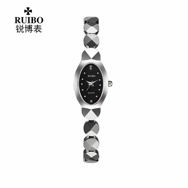 luxury Brand Female Watch quartz Gold Bracelet casual women's clocks Fashion lady Tungsten steel Wrist watches Oval Diamond