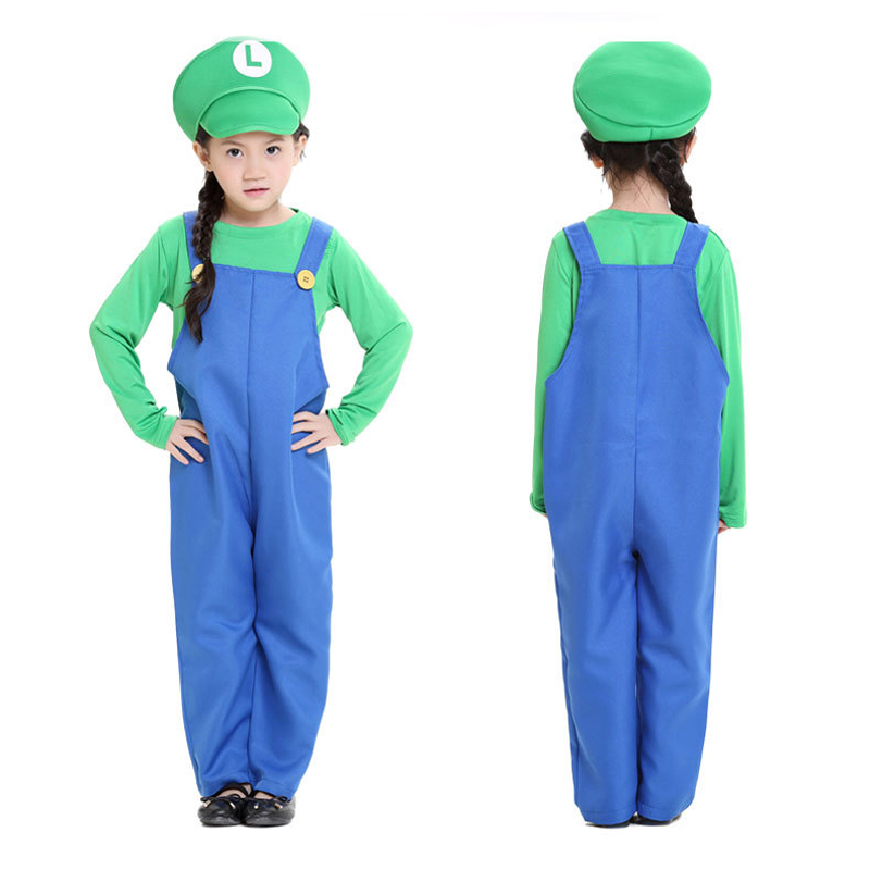 e4e188b60338 Aliexpress.com : Buy Mario and Luigi Costumes Kids Super Mario Bros/Brothers  Funy Cosplay Costume Cute Child Fancy Dress Party Halloween Outfit from ...