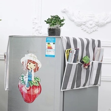 Refrigerator dustproof storage bag Home appliance top cover dust cover Microwave refrigerator dust cover storage цена 2017
