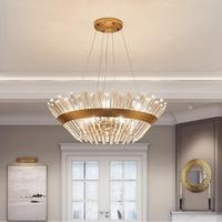 Новые роскошные круглый кристалл лампы гостиной люстра ресторан лампы Дизайнер творческой вилла Nordic личность Лофт лампы