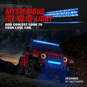"""Image 3 - MICTUNING M1S 52 """"LED בר עבודת אור כפולה שורה אווירודינמי עם קרח כחול אקסנט אור לכביש כבוי Jeep טרקטורונים משאית סירת 29100LM"""