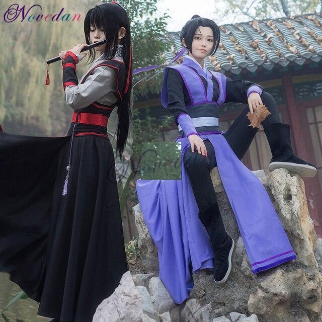 Anime Dao Mo To Shi Cosplay Wei Wuxian Jiang Cheng Costume Grandmaster of Demonic Cultivation Mo Dao Zu Shi Cosplay Costume Men