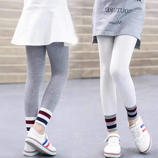 3046a357 Baby Girl Legging Girls Autumn Spring Pants Kids Leggings Toddler Girl  Trouserts Striped Long Pant Children School Wear Clothing